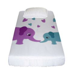 Elephant love Fitted Sheet (Single Size)