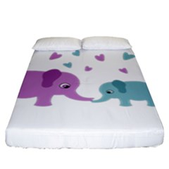 Elephant love Fitted Sheet (King Size)