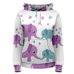 Elephant love Women s Pullover Hoodie