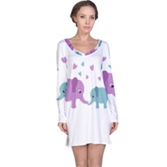 Elephant love Long Sleeve Nightdress