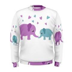 Elephant love Men s Sweatshirt