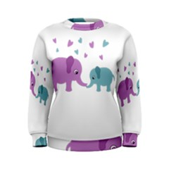Elephant love Women s Sweatshirt