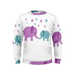 Elephant love Kids  Sweatshirt