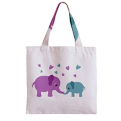 Elephant love Zipper Grocery Tote Bag