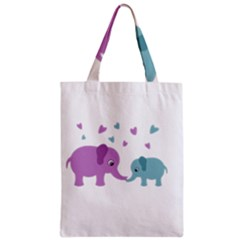 Elephant love Zipper Classic Tote Bag