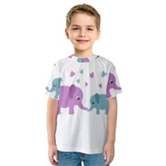 Elephant love Kids  Sport Mesh Tee