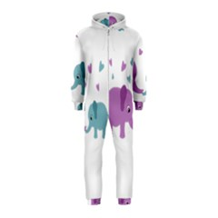 Elephant love Hooded Jumpsuit (Kids)