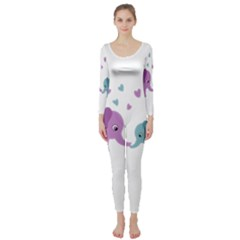 Elephant love Long Sleeve Catsuit