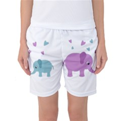Elephant love Women s Basketball Shorts