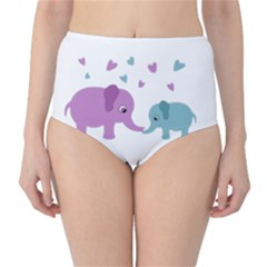 Elephant love High-Waist Bikini Bottoms