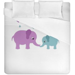 Elephant love Duvet Cover (King Size)