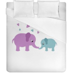 Elephant love Duvet Cover (California King Size)