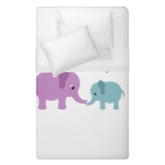 Elephant love Duvet Cover (Single Size)