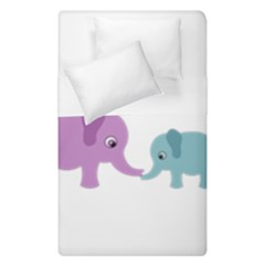 Elephant love Duvet Cover Double Side (Single Size)