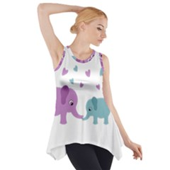 Elephant love Side Drop Tank Tunic