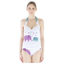 Elephant love Halter Swimsuit