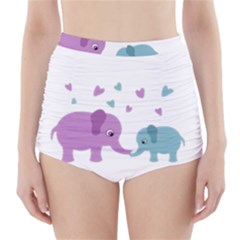 Elephant love High-Waisted Bikini Bottoms