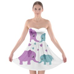 Elephant love Strapless Bra Top Dress