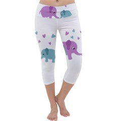 Elephant love Capri Yoga Leggings
