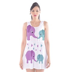 Elephant love Scoop Neck Skater Dress
