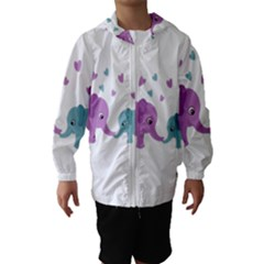 Elephant love Hooded Wind Breaker (Kids)