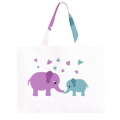 Elephant love Large Tote Bag