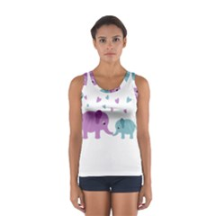 Elephant love Women s Sport Tank Top