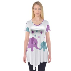 Elephant love Short Sleeve Tunic