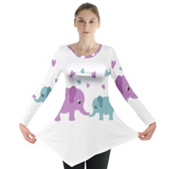 Elephant love Long Sleeve Tunic