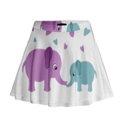 Elephant love Mini Flare Skirt