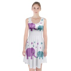 Elephant love Racerback Midi Dress