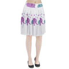Elephant love Pleated Skirt