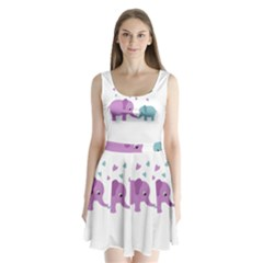 Elephant love Split Back Mini Dress