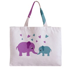 Elephant love Medium Zipper Tote Bag