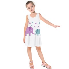 Elephant love Kids  Sleeveless Dress
