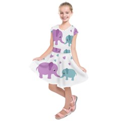 Elephant love Kids  Short Sleeve Dress