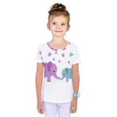 Elephant love Kids  One Piece Tee