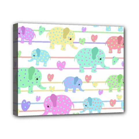 Elephant pastel pattern Canvas 10  x 8