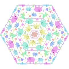 Elephant pastel pattern Mini Folding Umbrellas
