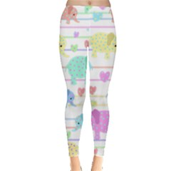 Elephant pastel pattern Leggings