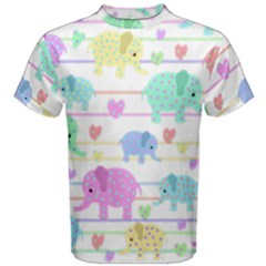 Elephant pastel pattern Men s Cotton Tee