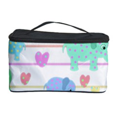 Elephant pastel pattern Cosmetic Storage Case