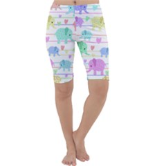 Elephant pastel pattern Cropped Leggings