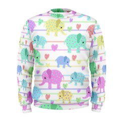 Elephant pastel pattern Men s Sweatshirt
