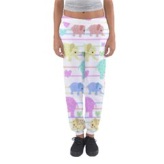 Elephant pastel pattern Women s Jogger Sweatpants