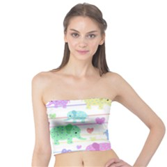 Elephant pastel pattern Tube Top