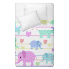 Elephant pastel pattern Duvet Cover Double Side (Single Size)