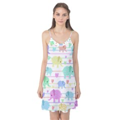Elephant pastel pattern Camis Nightgown