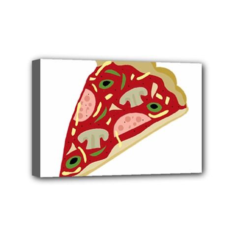 Pizza slice Mini Canvas 6  x 4