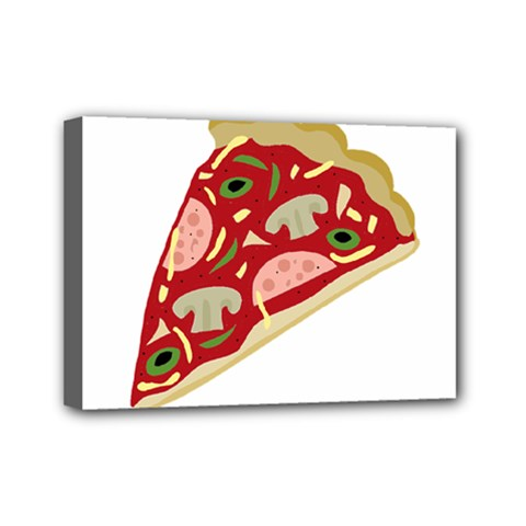 Pizza slice Mini Canvas 7  x 5